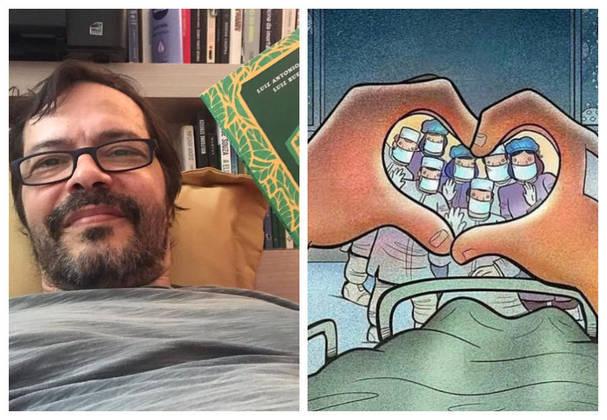 Heitor Martinez passou 13 dias hospitalizado na Clínica São Vicente, no Rio, lutando contra as complicações da doença. Ao R7, ele disse que teve medo ser intubado, o que não precisou. No último dia 12 de maio, o ator homenageou os enfermeiros que cuidaram dele, em post publicado no Instagram.