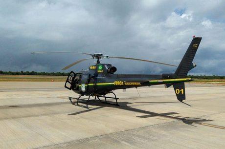 Helicóptero da Força Nacional que caiu nesta quinta-feira (8)