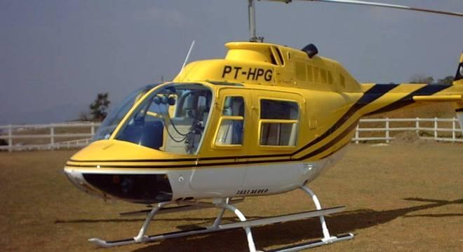 Helicóptero que caiu na Anhanguera nesta segunda-feira