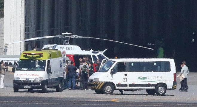 Bolsonaro foi transferido de Congonhas de helicóptero para próximo do hospital
