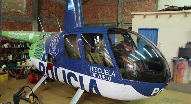 Helicóptero da polícia de Buenos Aires foi encontrado em hangar do narcotráfico
