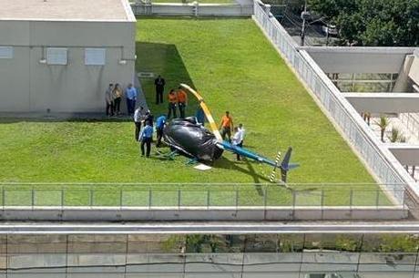Aeronave foi coberta após incidente