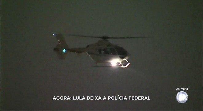 Helicóptero que leva Lula chega ao Aeroporto de Congonhas