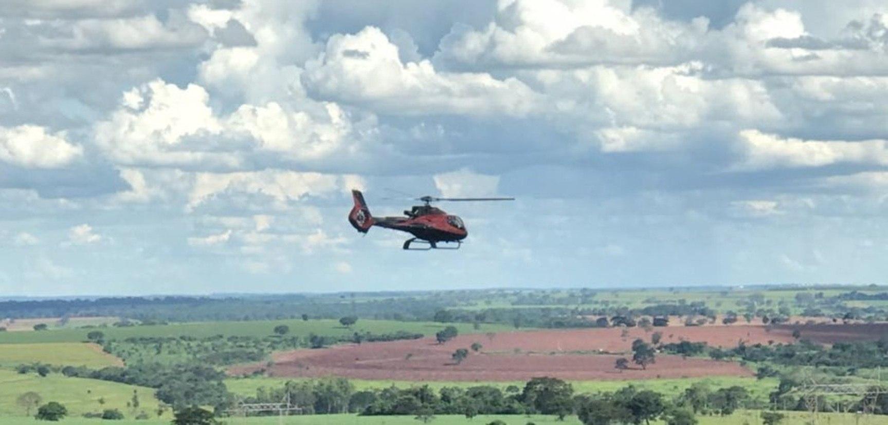 Helicóptero usado para matar Gegê do Mangue (Divulgação/Polícia Civil)