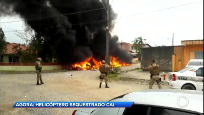 A PM suspeita que o helicóptero que fazia voos terceirizados para o Beto Carreiro World teria sido sequestrado em Joinville, Santa Catarina, nesta quinta-feira (8)