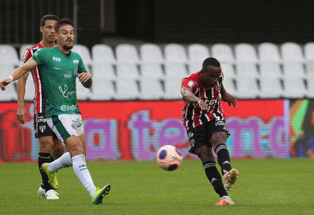 Helinho - Guarani 1 X 3 São Paulo - Atacante quebrou um jejum de 29 partidas e marcou o primeiro dele na temporada, o segundo como profissional