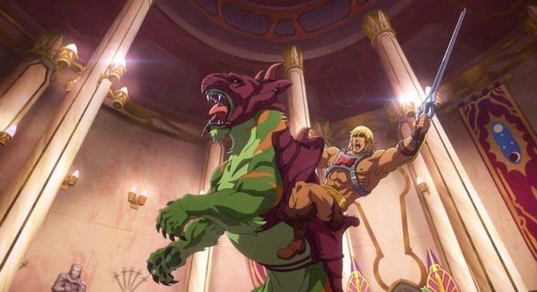 He-Man e o Gato Guerreiro em ação na nova série