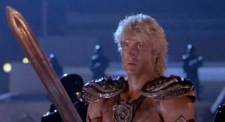 Dolph Lundgren como He-Man no filme de 1987