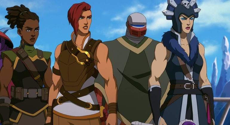 Teela (segunda da esquerda para direita) é um dos destaques da nova série