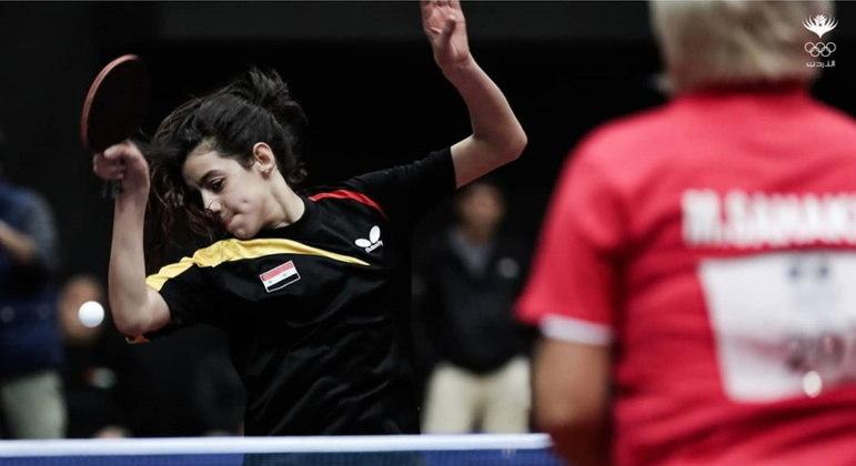Hend Zaza é atleta de tênis de mesa