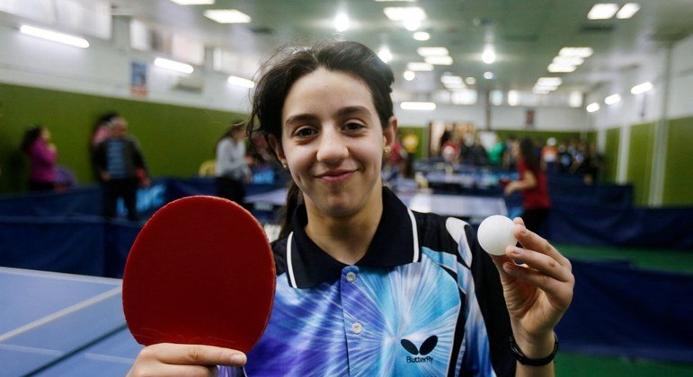 Hend Zaza tem 12 anos e vai disputar a Olimpíada de Tóquio