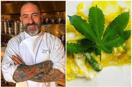 Henrique Fogaça exibiu prato feito com cannabis