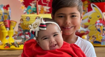 Henry Diniz com a irmã caçula, Zaya