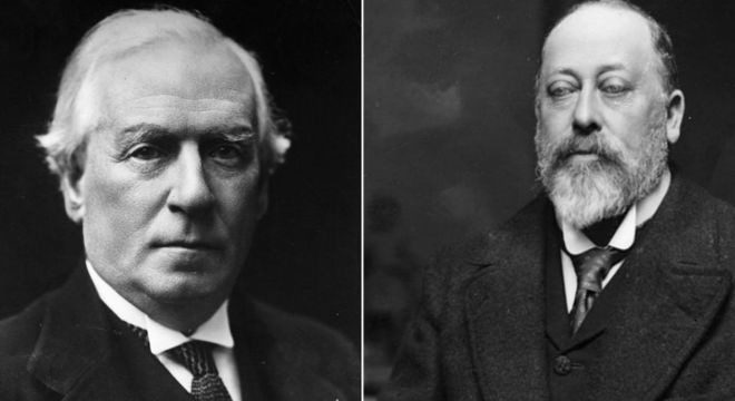 Herbert Asquith se tornou primeiro-ministro britânico em 1908, Edward 7º morreu em 1910