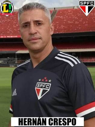 HERNÁN CRESPO - 6,0  O São Paulo mostrou muita dedicação e rondou a área do Botafogo-SP do início ao fim. Porém, a equipe demorou a conseguir furar o bloqueio do Botinha e desperdiçou muitas chances.