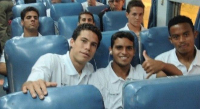 Hernanes e Jean durante excursão do São Paulo para a Índia, em 2007