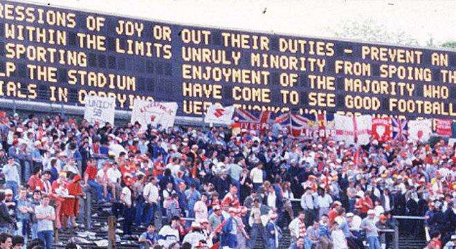 No placar do estádio, o pedido de calma e de pacificação