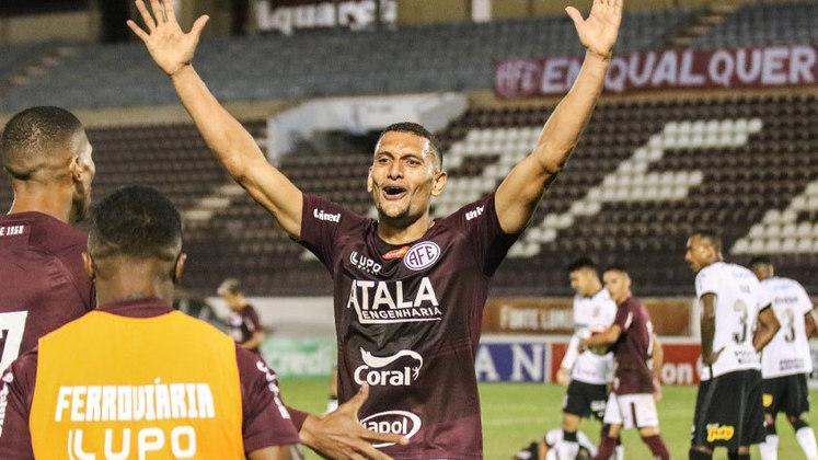 Higor Meritão (Ferroviária): autor de um dos gols da Locomotiva contra o Corinthians, Meritão se firmou no meio-campo da equipe por sua versatilidade. É um jogador que protege e apoia bem a equipe