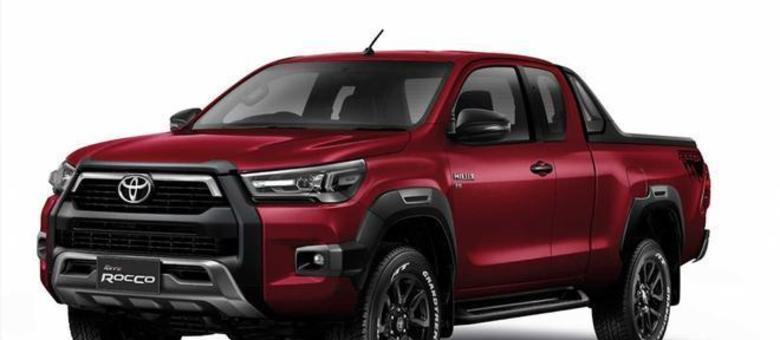 Visual da futura Toyota Hilux, que chega a Argentina até o fim do ano e em 2021 no Brasil