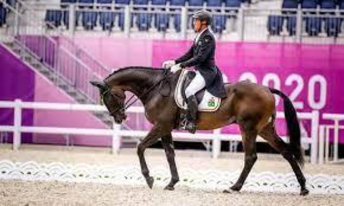 Hipismo: a equipe brasileira vai disputar o CCE (conjunto completo de equitação) de adestramento, às 20h30. Na foto, Marcelo Tosi.