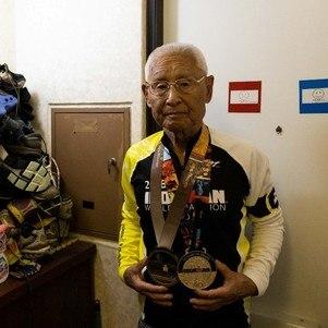 O triatleta Hiromu Inada