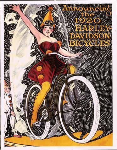 Anúncio de bicicletas H-D em 1920