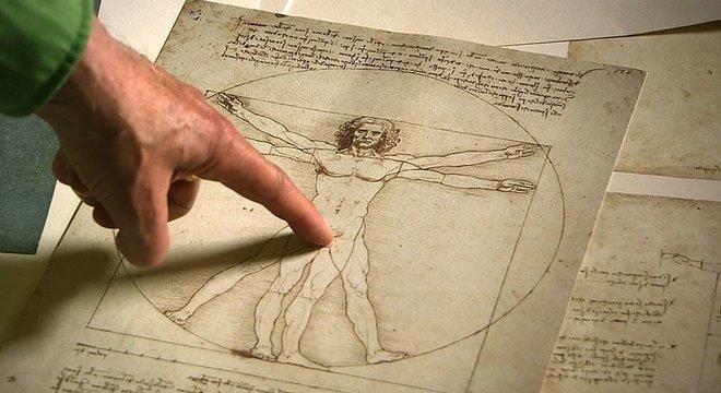 O centro do quadrado não tinha de ser o mesmo que o do círculo, então, no quadrado, o umbigo da figura humana não coincide com o centro da figura - o centro está um pouco abaixo do umbigo do homem