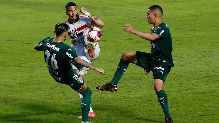Histórico do Choque-Rei na Libertadores: portanto, em oito clássicos entre São Paulo e Palmeiras na Libertadores, foram seis vitórias do Tricolor e dois empates.