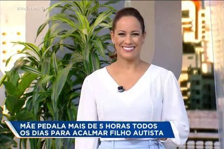 Renata Alves comanda o 'Hoje em Dia'