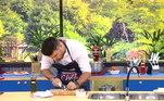 O comediante Marcelo IéIé enfrentou Matheus Ceará na disputa gastronômica comandada pelo chef Dalton RangelO Hoje em Dia vai ao ar de segunda a sexta, a partir das 10h, na tela da Record TV
