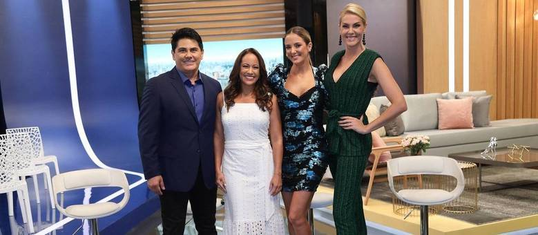 """Cesar, Renata, Ticiane e Ana, apresentadores do """"Hoje em Dia"""""""