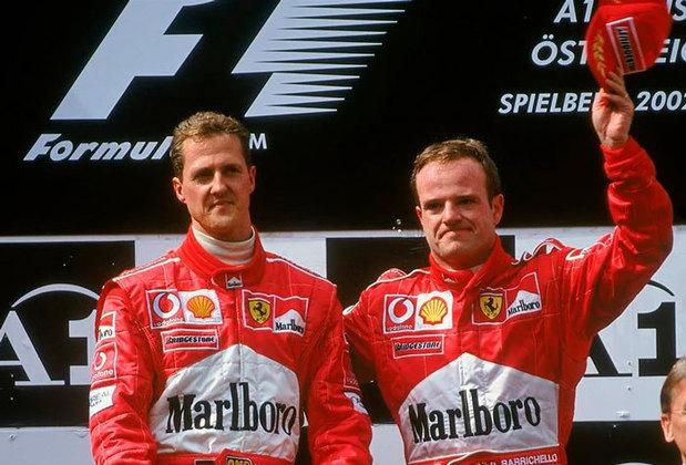 Hoje não, hoje não... hoje sim: Uma das corridas mais controversas da história da Fórmula 1 aconteceu em maio de 2002. Rubens Barrichello liderava o GP da Áustria, quando a ferrari deu a ordem para o brasileiro desacelerar e deixar Michael Schumacher, da mesma scuderia, vencer a prova.