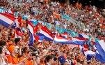 Os holandeses tinham também o melhor ataque da Eurocopa, com oito gols anotados na fase de grupos