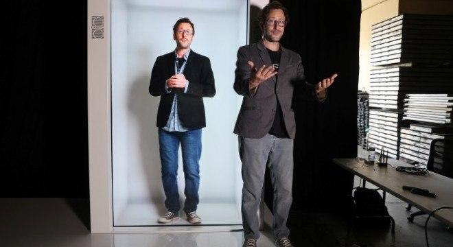 Empresa de Los Angeles criou máquinas para transmitir hologramas ao vivo