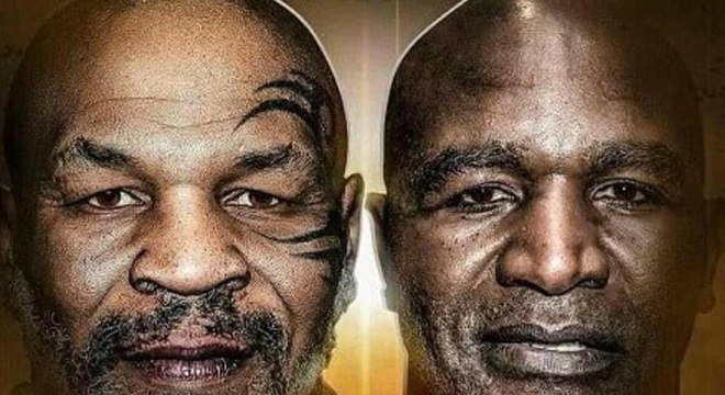 Cartaz da possível luta entre Tyson e Holyfield, que seria em julho