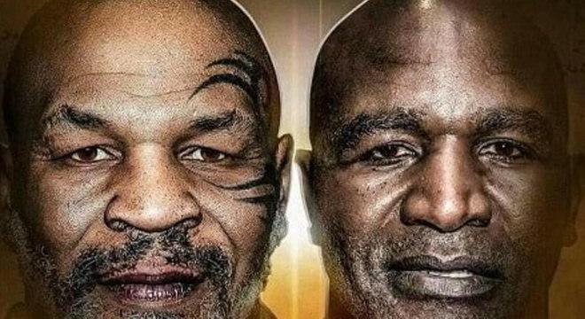 Tyson e Holyfield se enfrentaram duas vezes na década de 90