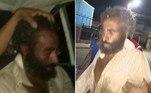 O homem acima foi encontrado vivo em um cemitério deKafr Al-Hosar, aldeia egípcia ao norte do Cairo, cerca de quatro meses após ter sido declarado morto