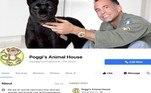 No Facebook, Poggi mantinha uma página na qual afirmava administrar,no quintal da casa onde vive, um santuário paraanimais raros e ameaçados de extinção