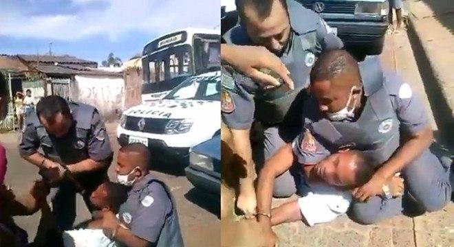 'Não pode enforcar', gritou uma mulher enquanto gravava o vídeo