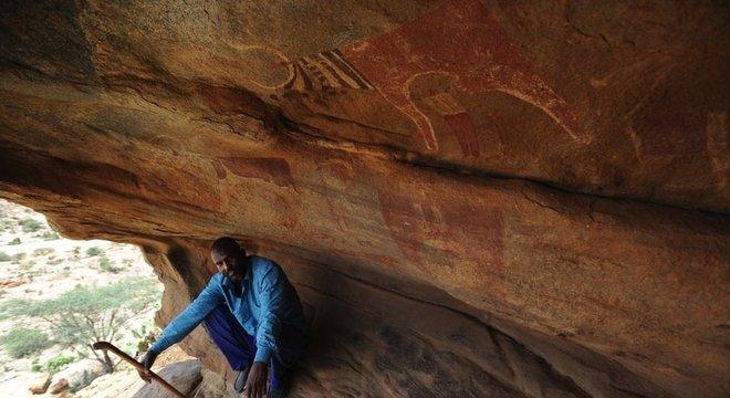 Pinturas rupestres no complexo de Laas Gaal têm 5 mil anos de idade