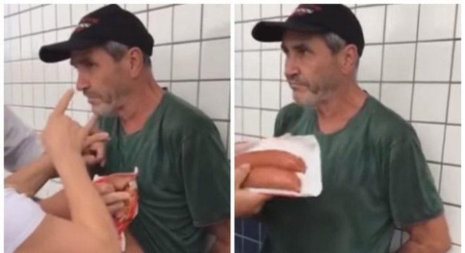 Wanderlei da Silva em vídeo após ser flagrado furtando comida de supermercado
