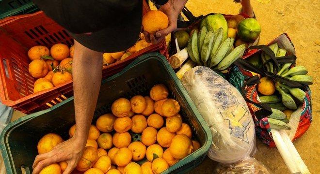 Mais de 20 produtos fizeram parte da cesta de alimentos doadas a moradores da Brasilândia