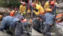Desabamento deixa vítima presa em escombros em SP; veja resgate