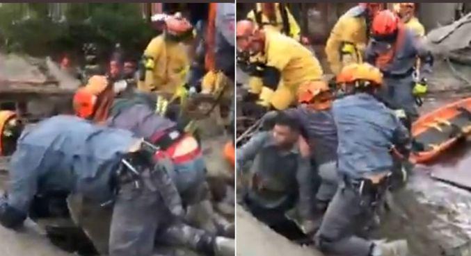 Homem de 40 anos é resgatado após ficar soterrado
