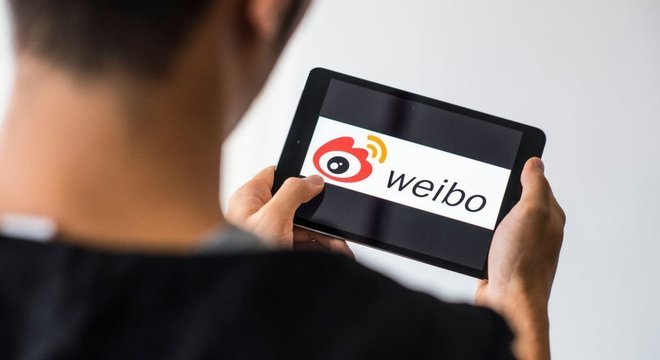 A rede social Weibo é uma das mais populares na China