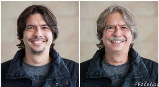 O filtro 'idade' do FaceApp mostra como provavelmente será a aparência de uma pessoa na velhice
