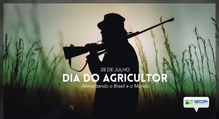 Homenagem feita pela Secom em homenagem ao Dia do Agricultor