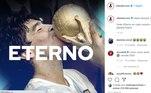 A Federação de Futebol da Argentina escreveu: 'Adeus, Diego. Você será #Eternoem cada coração do planeta do futebol'