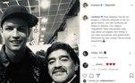 Cristiano Ronaldo se despediu do amigo Maradona