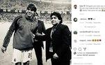 Kaká escreveu: 'Obrigado por tudo que você fez por esse esporte que eu tanto amo️. Gênio! Descanse em paz'